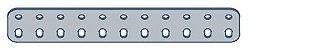 Modelix 402 - Barra de 2 Fileiras 11 furos - Imagem 1