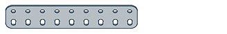 Modelix 401 - Barra de 2 Fileiras 9 furos - Imagem 1