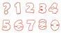 Cortador de Números - Rosa Bebê - 8,5cm - Imagem 1