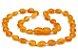Colar de âmbar para adulto olive mel não polido - Imagem 1
