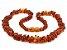 Colar de âmbar para adulto chips cognac polido - Imagem 1