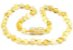Colar de âmbar para bebê premium manteiga e limão polido - Imagem 1