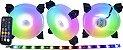 KIT 03 FAN GAMING MASTER 120MM RGB + FITA AK-AAF1 - Imagem 1