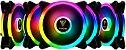 KIT 5 FAN GAMDIAS AEOLUS 120MM RGB M2-1205R - Imagem 1