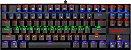 TECLADO MECÂNICO REDRAGON KUMARA RAINBOW SWITCH BLUE K552R - Imagem 1