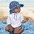 Chapéu de Banho Infantil tipo Australiano com FPS+50 Oceano Atlântico - G (2 a 4 anos) - Iplay - Imagem 2