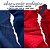 Tecido Melton + Microsoft para Absorvente Ecológico nas cores Vermelho e Marinho  - Imagem 1