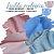 Tecido Melton + Microsoft para Fralda Ecológica 30cm X1.60m cada Rosa e Azul - Imagem 1