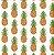 Tricoline abacaxi fundo branco 50cmX1,40largura - Imagem 1