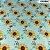 Tricoline Girassóis Crystal Flores Amarela 50cm x 1.50m largura - Imagem 1