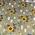 Tricoline Girassóis Com Passarinhos Castanho 50cm x 1.50m largura - Imagem 1