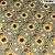 Tricoline Girassóis Castanho 50cm x 1.50m largura - Imagem 1