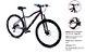 Bicicleta Gool Bike Sport Aro 29 Feminina 21 marcha quadro 15- Pink/Preto Alok - Imagem 1