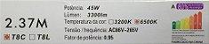 Lâmpada Tubular Led HO/T8, 36 e 45W 2.37M Branco Frio, Leitosa e Cristal 110-220V  - Imagem 3