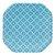 Prato de papel geométrico Azul - 21cm (8 unidades) - Imagem 1