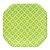 Prato de papel geométrico Verde - 21cm (8 unidades) - Imagem 1