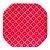 Prato de papel vermelho cereja - 21cm (8 unidades) - Imagem 1