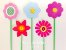 Topo de Bolo Flowers M - (5 toppers) - Imagem 1