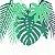Mix de Folhas Tropicais - 14 folhas / 2 cores - Imagem 1