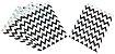 Saquinho de papel Chevron - Preto 13x18 cm (10 unidades) - Imagem 2