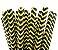 Canudo de papel Chevron preto e amarelo - 20 unidades - Imagem 1
