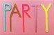 Topo para bolo acrílico - PARTY (5 letras reutilizáveis) - Imagem 1