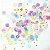 Mix confetes tons pastel e dourado - 1cm (10g) - Imagem 2