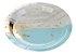 Prato de papel - Mármore Azul e Dourado (10 un) - Imagem 1