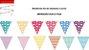 Bandeirola - Mix de cores e estampas (12 peças) - Imagem 2