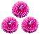 Flores de Papel 30 cm - Roxo e Pink (3 unidades - Desmontadas) - Imagem 2