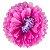 Flores de Papel 30 cm - Roxo e Pink (3 unidades - Desmontadas) - Imagem 1