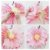 Flores de Papel 30 cm - Rosa e Verde Menta (3 unidades - Desmontadas) - Imagem 2