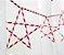 Canudo de papel listra vermelha - 20 unidades - Imagem 1