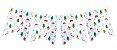 Bandeirola / Guirlanda de Natal (12 peças + cordão) - Imagem 1