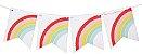 Bandeirola de papel - Arco-Íris (12 peças + cordão) - Imagem 1