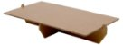 Bandeja retangular 14x25 cm - Marrom Kraft (papelão desmontável) - Imagem 1