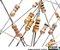Kit com 100 unidades de Resistores 1/4W 5% 10 Valores - Imagem 1