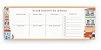 Bloco Planner Semanal Teclado Notepad Lisboa - Imagem 1