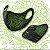 Mascara Tribal Art Tsu Verde G - Imagem 1
