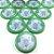 10 Botões - Acrílico Cristal 49mm - Wolfsburgo - Imagem 1