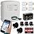 Kit Alarme Residencial Com Discadora GSM Chip 4 Sensores Abertura - Imagem 1