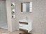 Kit Banheiro com armário, cuba e espelheira suspenso 80cm  Nápole - Imagem 1