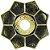 Prato EBS Lotus - Dourado Envelhecido / Dourado - Imagem 1