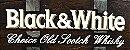 Barril Horizontal de parede em fibra decorativo - Black & White Whisky - Imagem 4