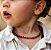 Colar de âmbar infantil - COGNAC - barroco polido - Imagem 3
