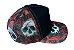 Boné Trucker Aba Curva Noffing - Skull Rosas - Imagem 2