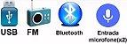 Amplificador de Mesa Receiver Rádio Usb Bluetooth Microfone Guitarra para Som Ambiente 300W Rms - Imagem 7
