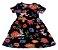 Vestido Curto Preto Florido - Imagem 1