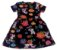 Vestido Curto Preto Florido - Imagem 2