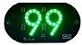 99 Placa Led Painel Luminoso 5v 99 2 Ventosas COR VERDE - Imagem 1